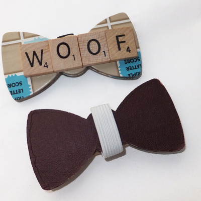 Custom word bow tie small for pets