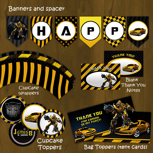 Bumblebee Transformers Birthday Package Diy 183 Splashbox
