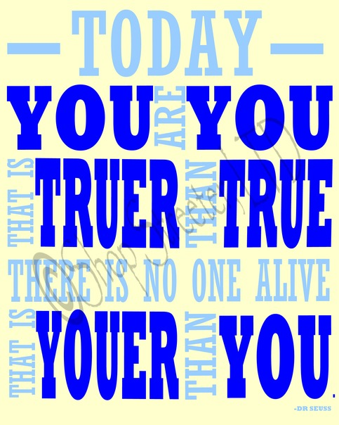 Dr. Seuss - Youer Than You - Blue