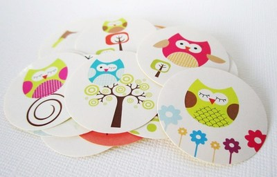 Cute Owl Label Stickers