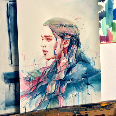 Daenerys i (og watercolor)
