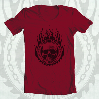 Self governed tee - red