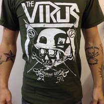 The Virus 2013 limited tour shirt - Constant War on green medium photo