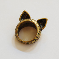 SALE-Cat Ears Ring - Thumbnail 1