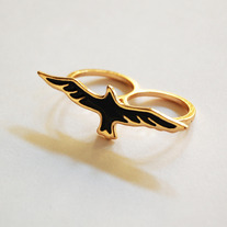 Black Bird Ring - Thumbnail 1