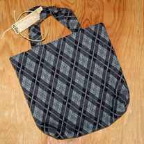 Small Grey Plaid Duct Tape Bag