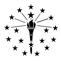 Indiana-flag-logo