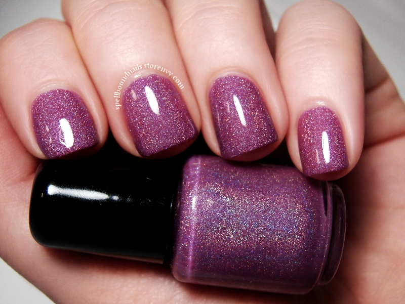 Enchanted Orchid - Custom Handcrafted Purple Holographic Nail Polish ...