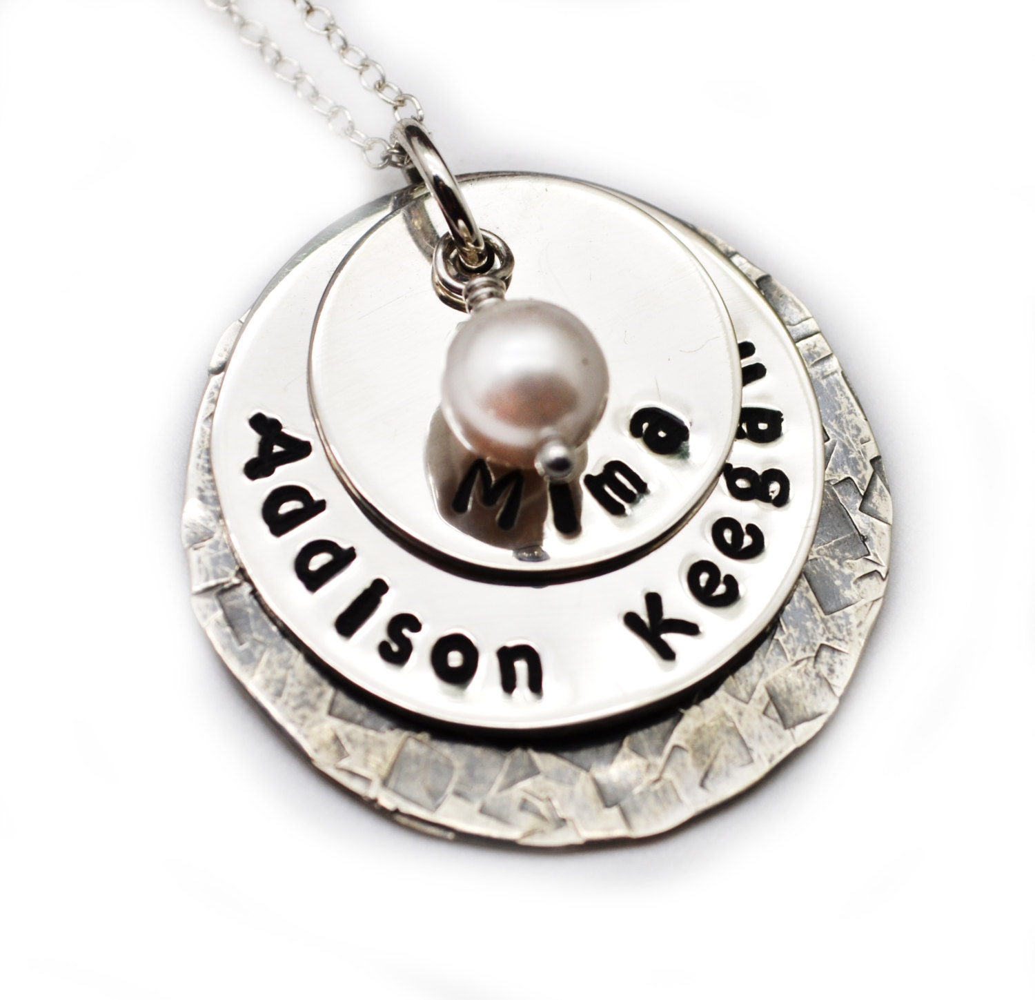 hand stamped mommy necklace personalized jewelry gift for mom