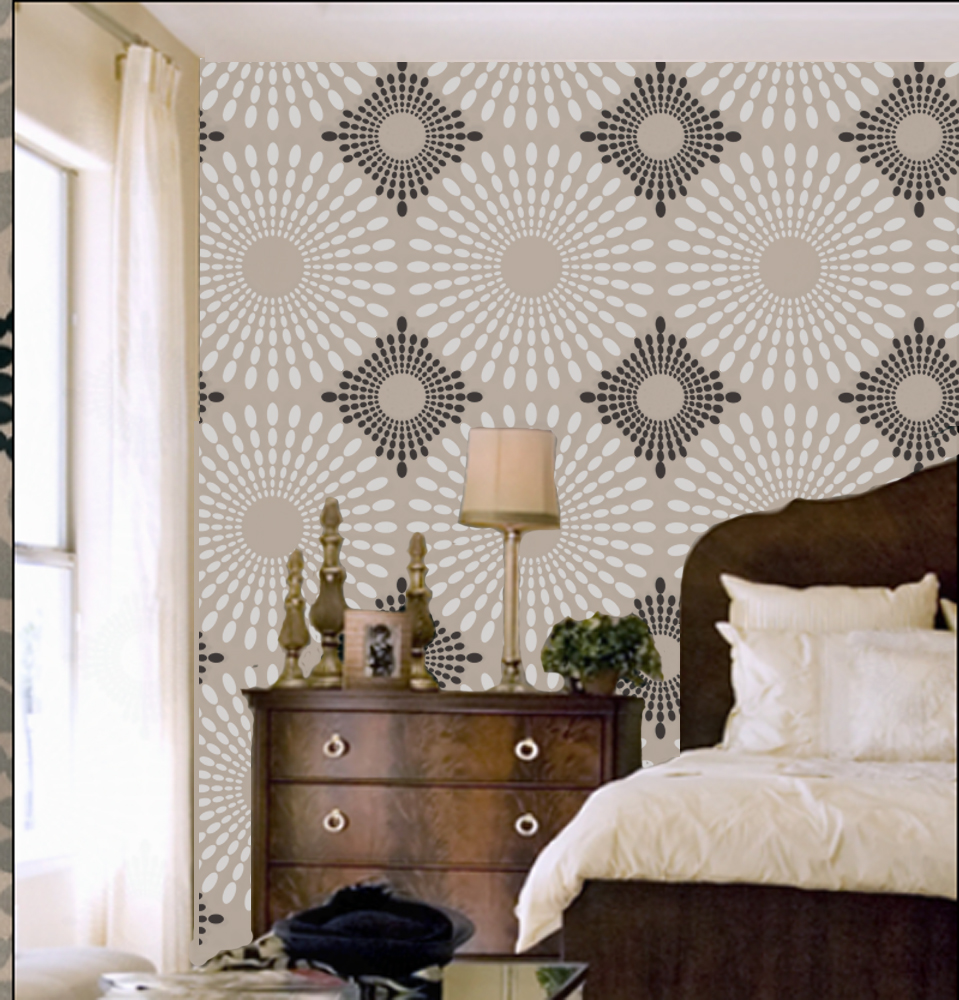 Venus Wall Stencil Modern Designer Pattern Decor Better