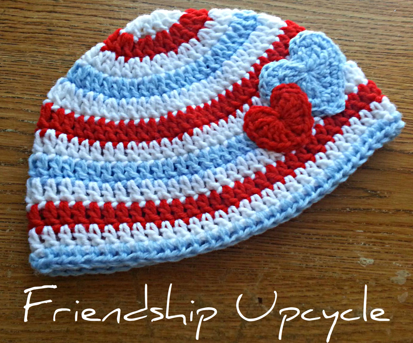 db05b103a8e Hearts crochet hat (boys) newborn