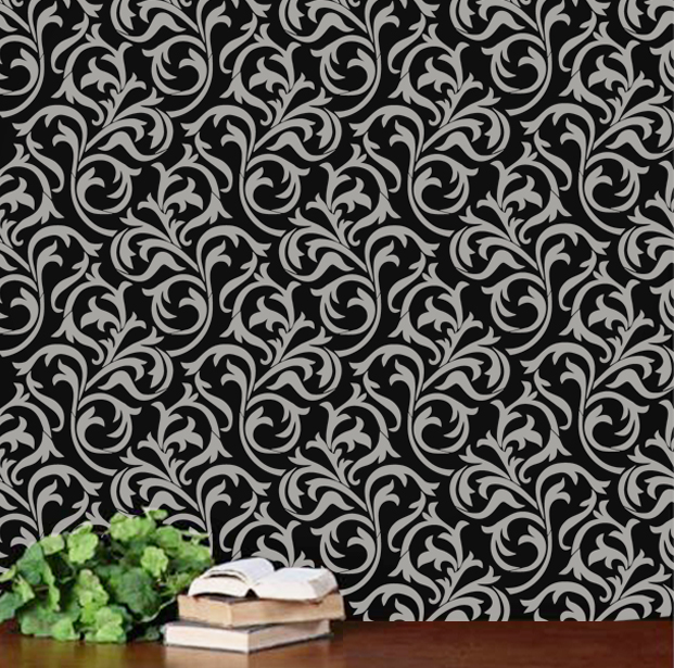 Oh So Romantic Heather Geo Scroll Swirls Modern Wall
