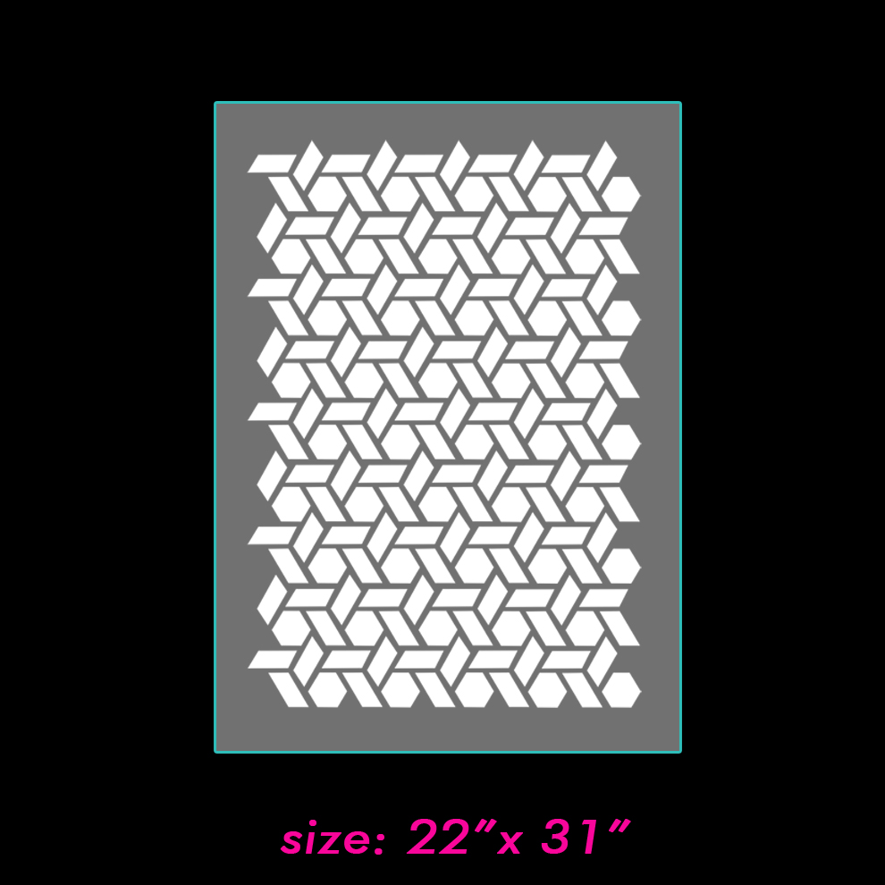 building blocks geometric pattern wall stencil home decor on storenvy 1 small