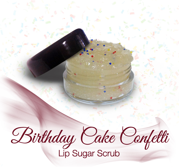 Velvet Sensations Birthday Cake Confetti Lip Sugar Scrub Online