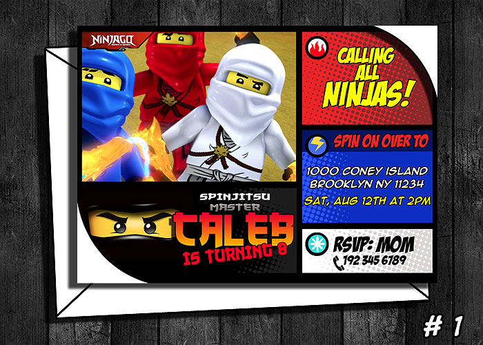 Ninjago Birthday Invitation on Storenvy