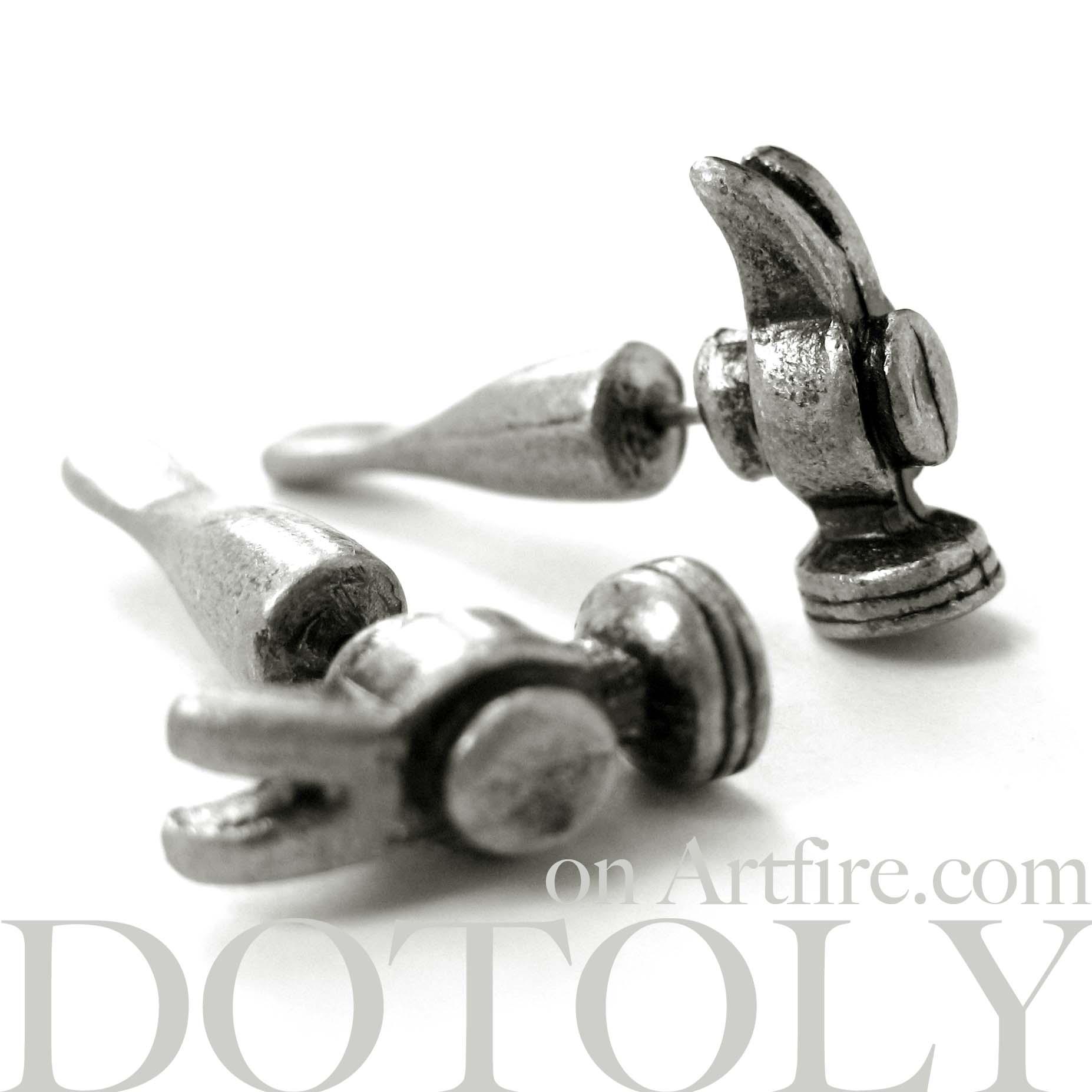 728c57b9c 3D Fake Gauge Realistic Hammer Tool Stud Earrings on Storenvy