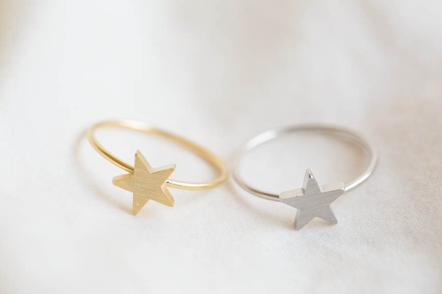 simple star ring,Jewelry,Ring,star ring,cute star,simple ring,stack ...