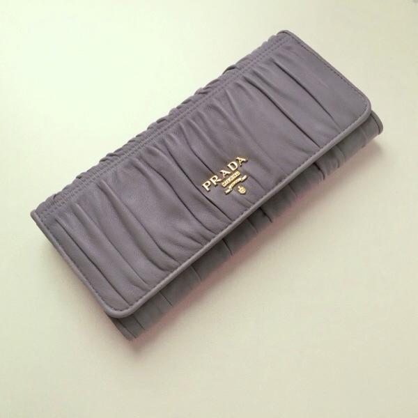 b51727e4c7cf the little green suitcase | PRADA Nappa Gaufre Nube Continental ...