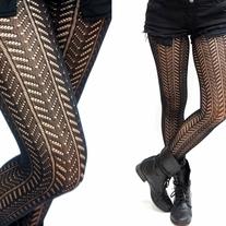 808203a053c Twill Pattern Stripe Fishnet Pantyhose  Tights on Storenvy