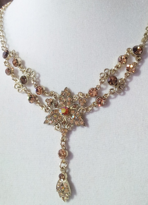 Victorian Quot Vintage Quot Crystal Necklace 183 Two Angel Designs