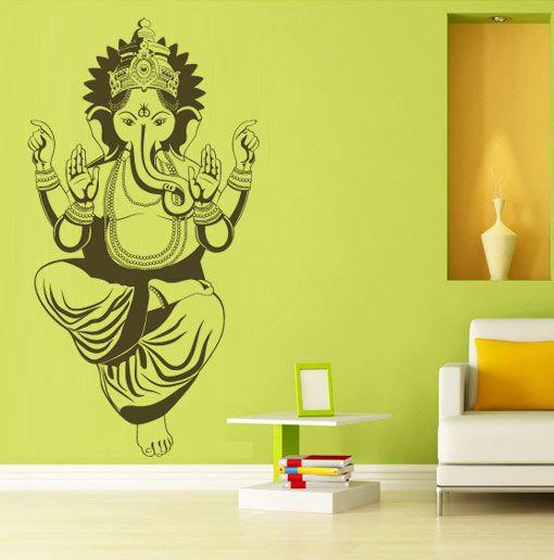 lord ganesh wall decal hindu divinity sticker · moonwallstickers