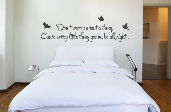 bob marley music lyric quote don't worry wall decal
