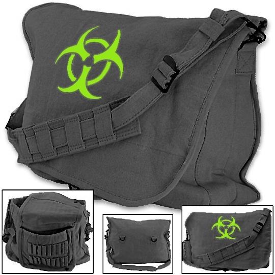Apocalyptic Zombie Paratrooper Bag W Bio Hazard Symbol