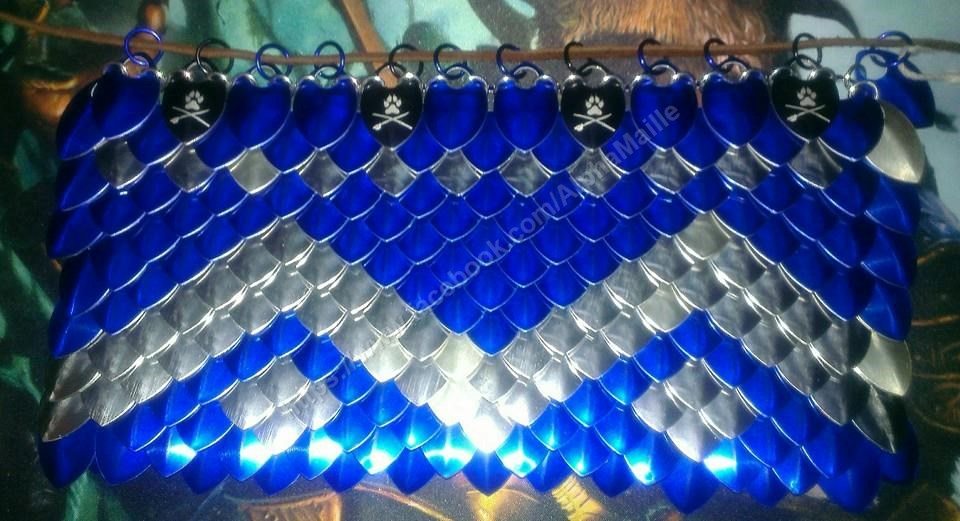 scalemaille dice bag extra large custom made alpha maille