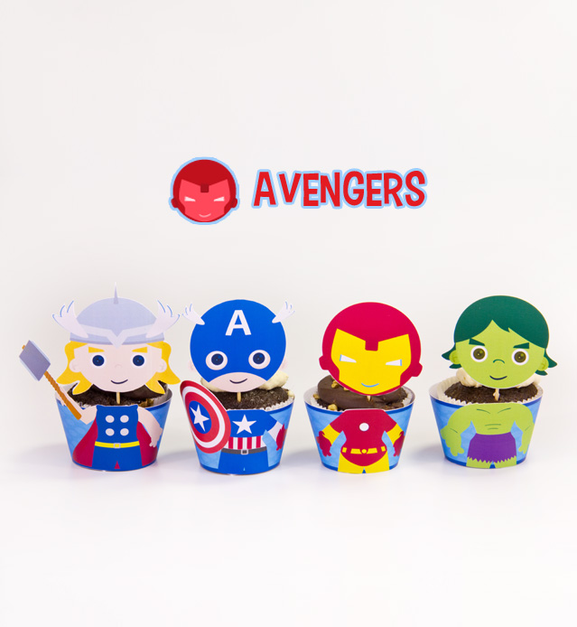 image about Superhero Cupcake Toppers Printable named Avengers Superhero Motivated Cupcake Toppers Wrappers Birthday Get together Printables Electronic Obtain Do-it-yourself