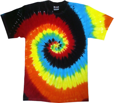 """(all-new-swirl-pattern """"neon-eclipse"""" Deep-tye-dye-multi-color-premium-tees-comes-in-all-sizes:)"""