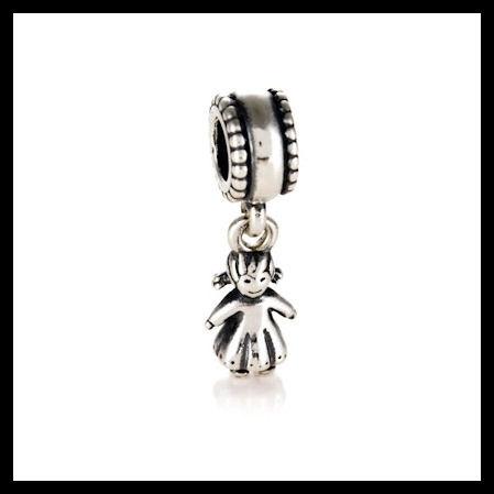 065084b96 AUTHENTIC PANDORA Girl Dangle .925 Sterling Silver European Charm Bead -  Item No. 790860