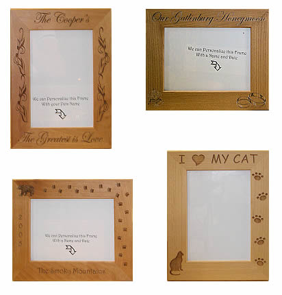 Custom Engraved Wood Frames