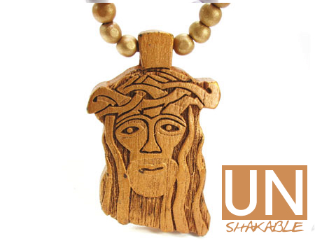 Wooden Jesus Piece Brown