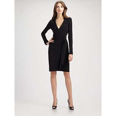 5e507f5eeed8 Diane Von Furstenberg Black Julian Wrap Dress · Down The Rabbit Hole ...
