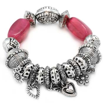 Paparazzi Pink And Silver Bracelet The Epic Boutique Online