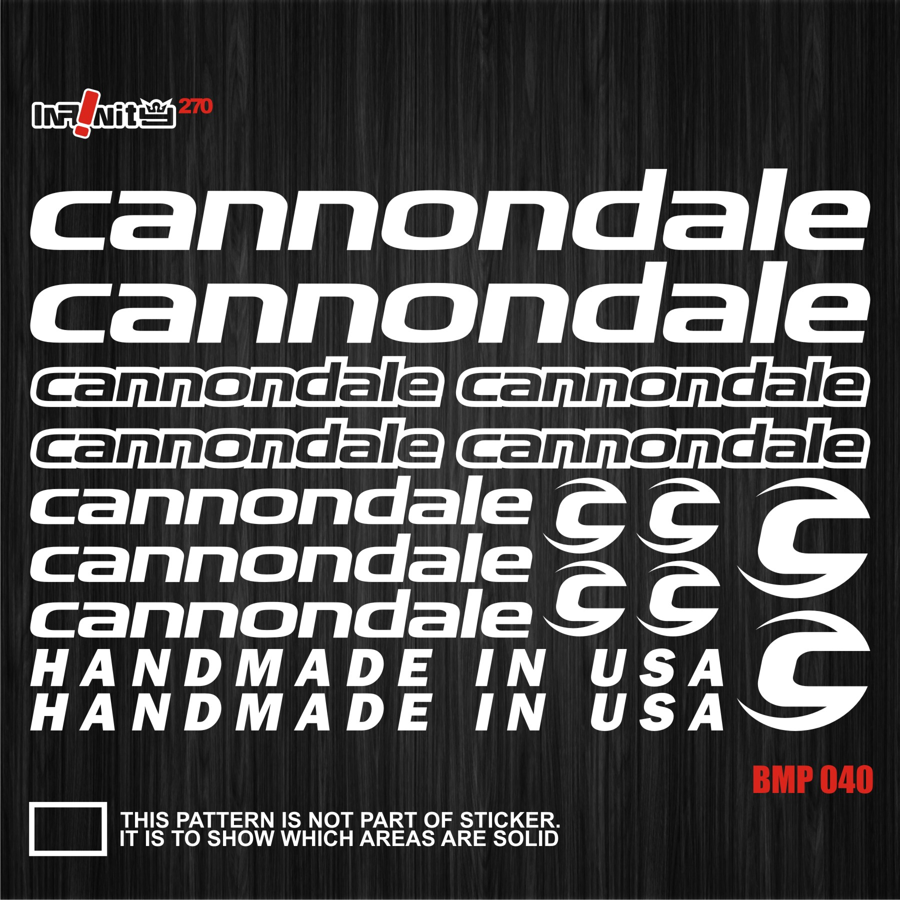 cannondale sticker  CANNONDALE wBMP040 Bike Frame Sticker Decal Bicycle Cycling Tube ...