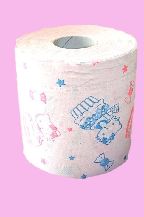 Hello Kitty Print Strawberry Scented Toilet Paper Sanrio