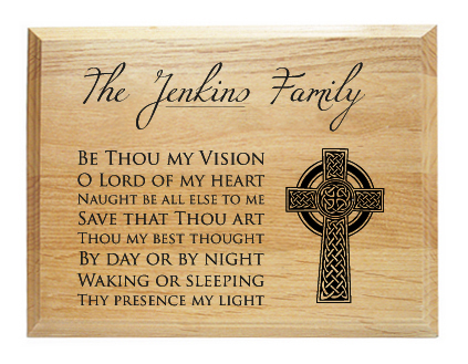 Be Thou My Vision Family Name Plaque on Storenvy
