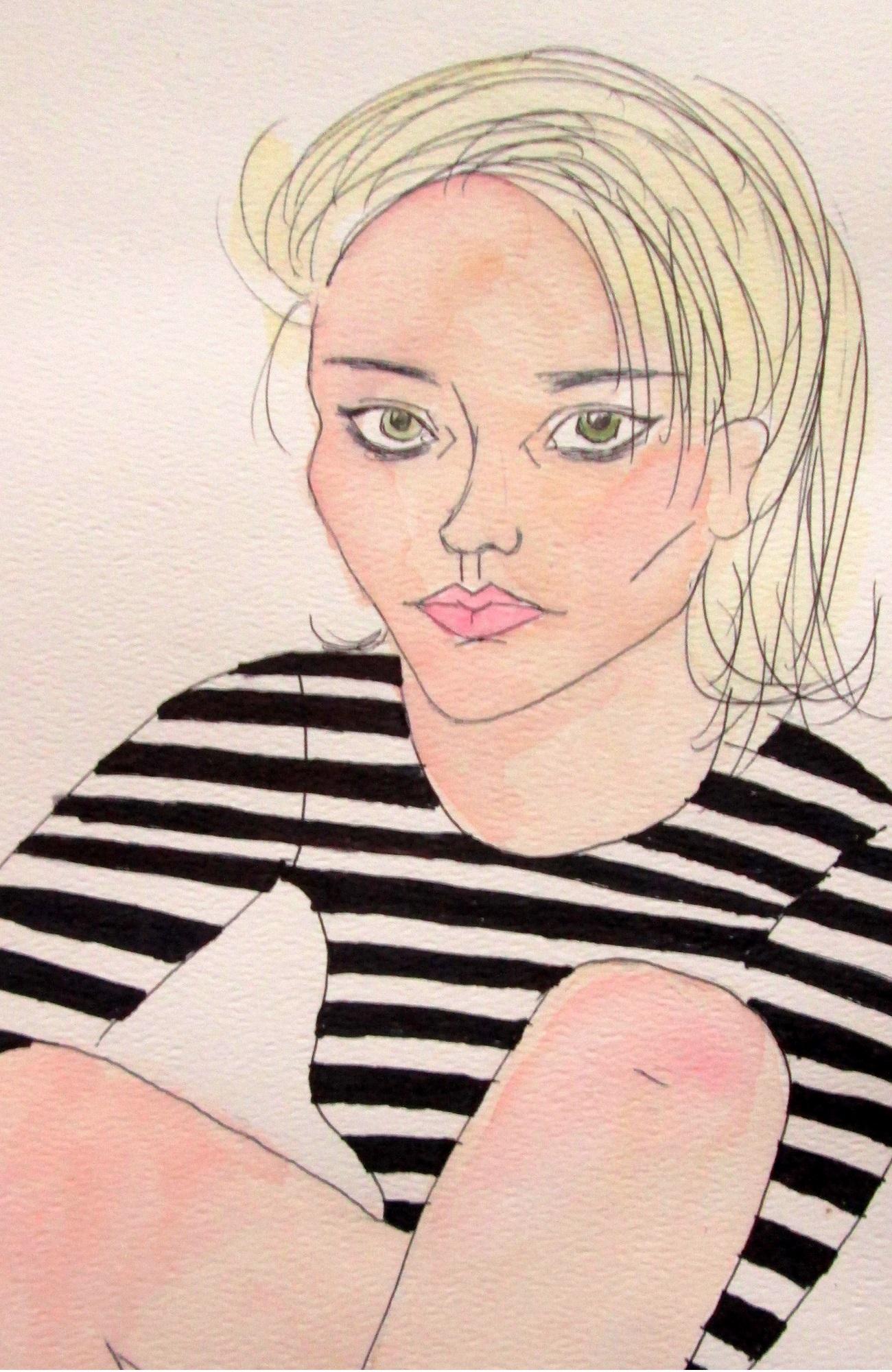 Sky Ferreira watercolor 2 on Storenvy