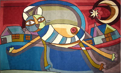Picasso S Cat Walking 183 Best Cushions