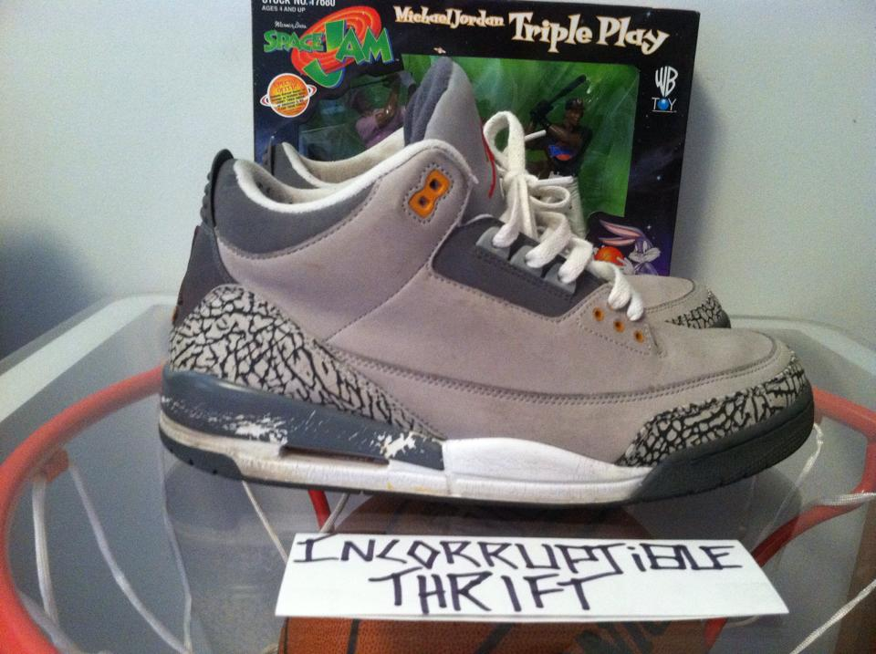 30d848f83b6 Cool Grey Air Jordan 3's · Incorruptible Thrift Shop · Online Store ...