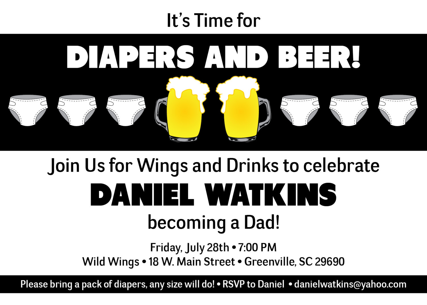 Chuggies beer and diaper party invitations babies for men dads il fullxfull558111571 m8ab small stopboris Gallery