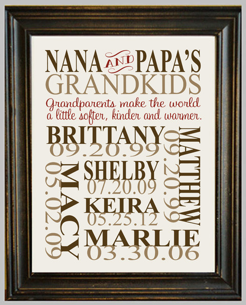 Jack & Jilly Designs | Personalized Grandparent Print ...