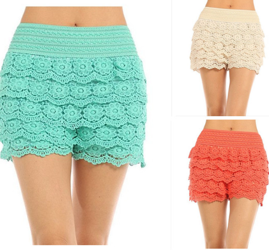 All Sizes Popular Crochet Flower Lace Shorts On Storenvy