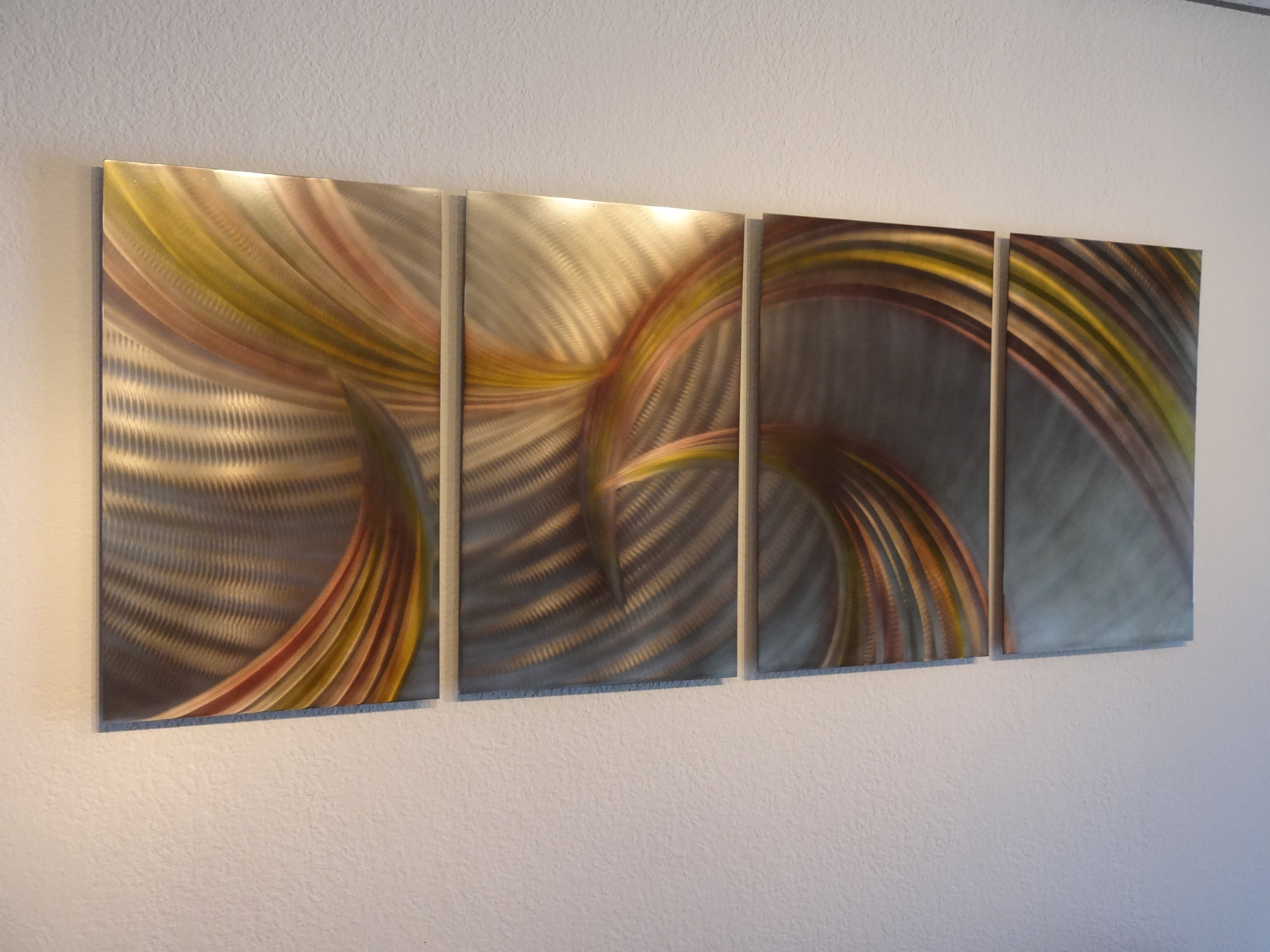 Tempest Bronze - Abstract Metal Wall Art Contemporary Modern Decor