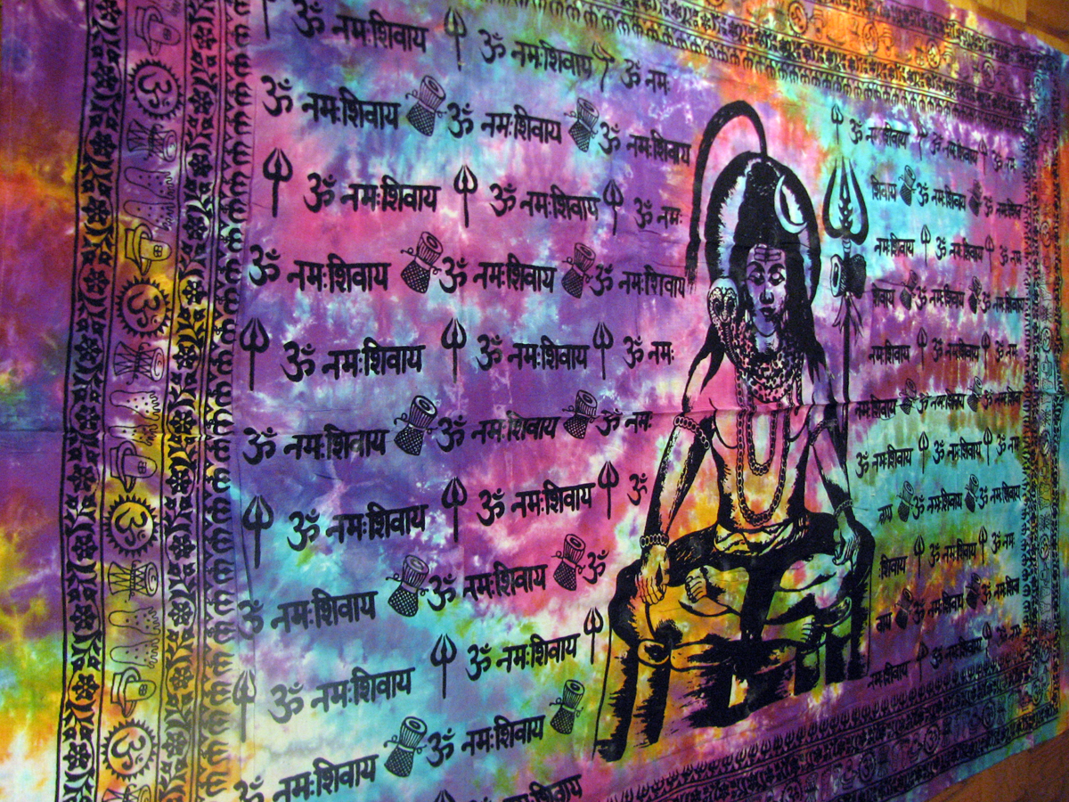 Lord Shiva Siva Hindu God Tie Dye Indian Yoga Tapestry