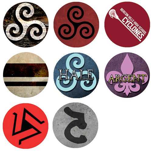 Teen Wolf Symbols 1 Buttons On Storenvy
