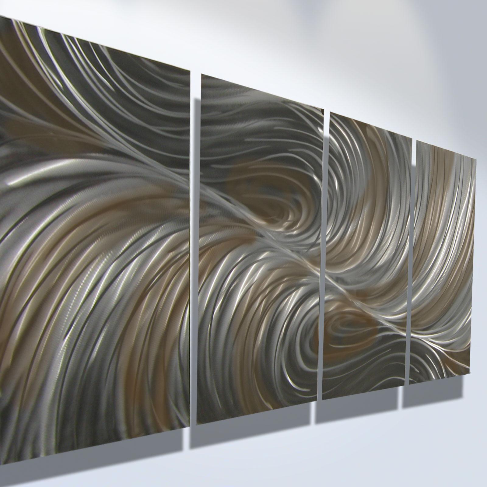 Echo Bronze - Abstract Metal Wall Art Contemporary Modern ...