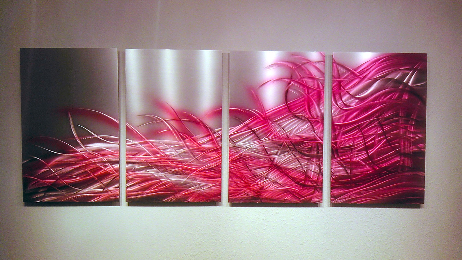 Red Metal Wall Decor: Resonance Red- Metal Wall Art Abstract Contemporary Modern