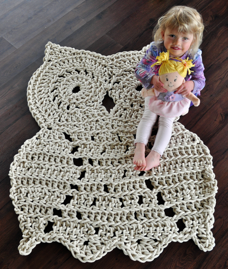 Rope Owl Rug Pattern - Crochet Pattern - Owl Decor ...